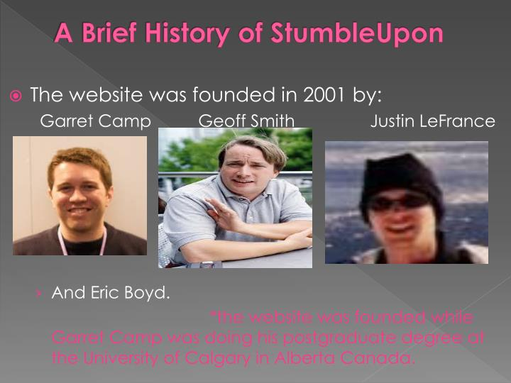A Brief History of StumbleUpon