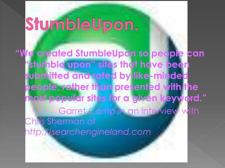 StumbleUpon.