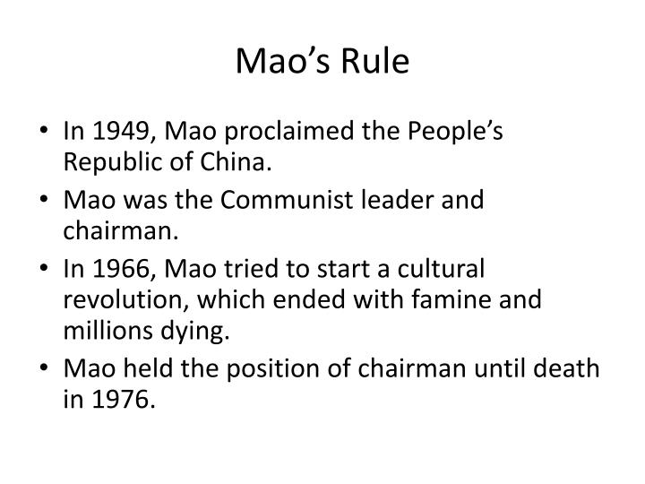 Mao's Rule