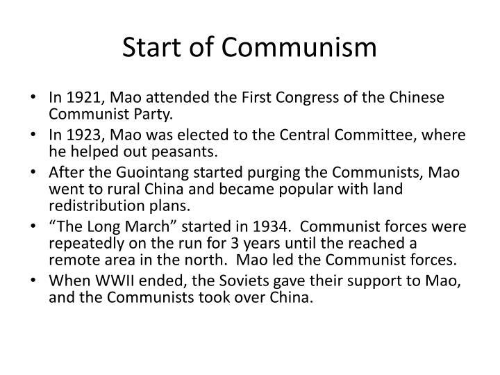 Start of Communism