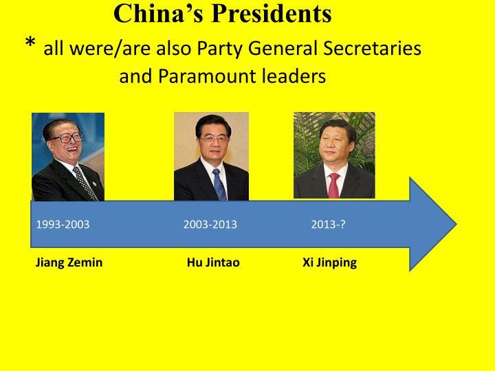 China's Presidents