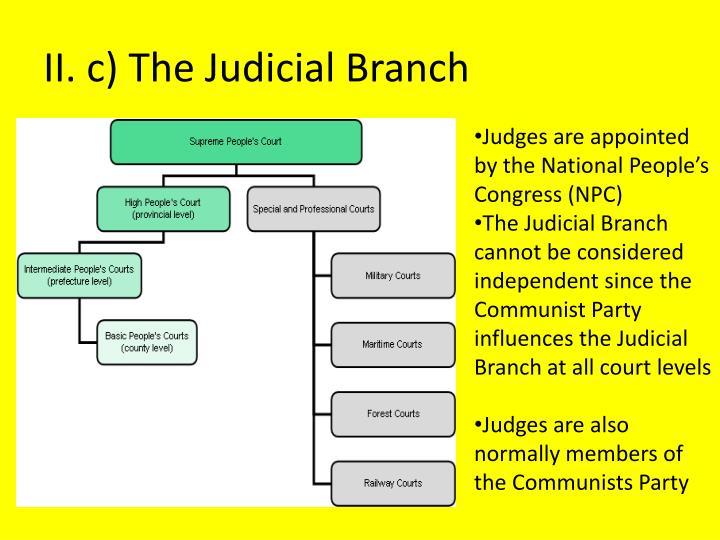 II. c) The Judicial Branch