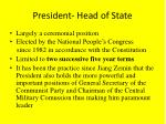 president head of state