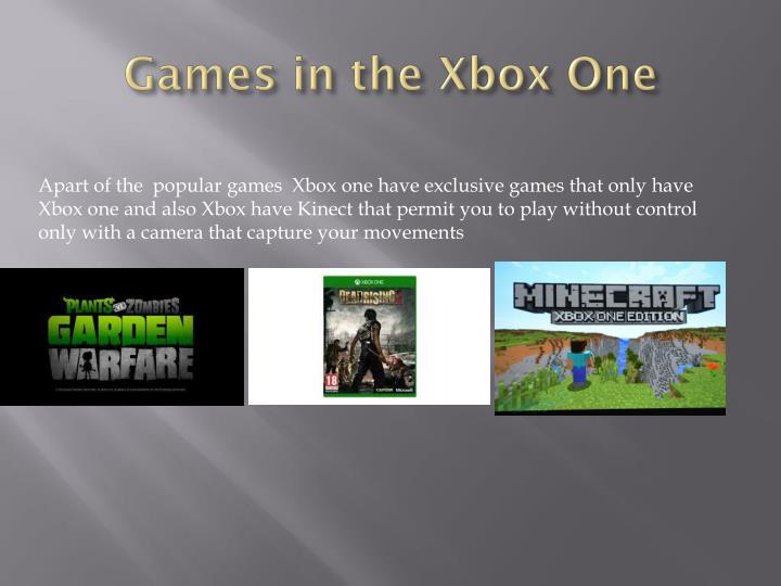 Games in the xbox one