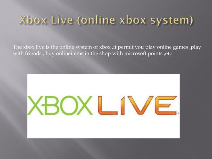 Xbox Live (online