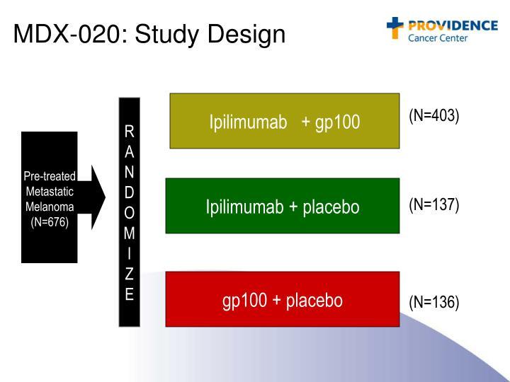 MDX-020: Study Design
