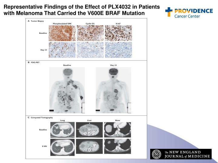 Representative Findings of the Effect of PLX4032