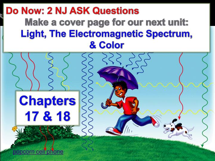 Do Now: 2 NJ ASK Questions