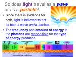 so does light travel as a wave or as a particle