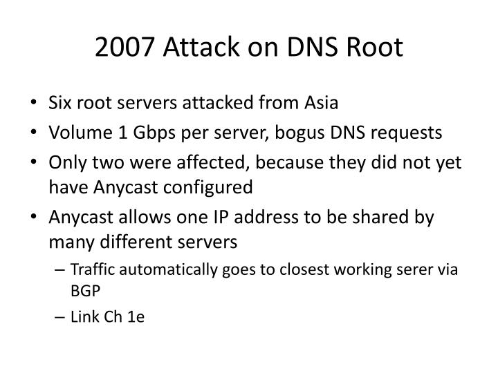 2007 Attack on DNS Root
