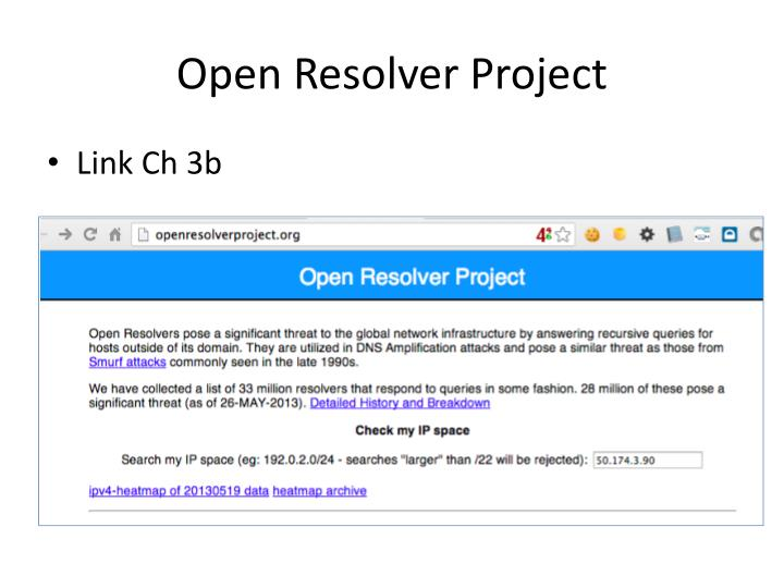 Open Resolver Project