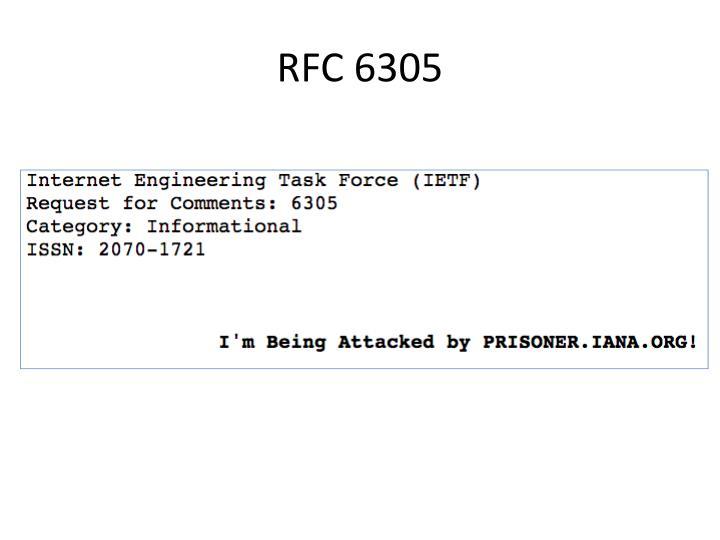 RFC 6305