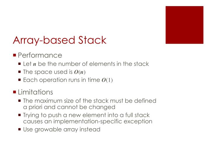 Array-based Stack