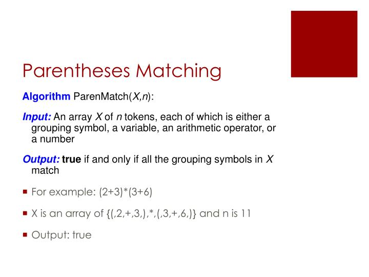 Parentheses Matching