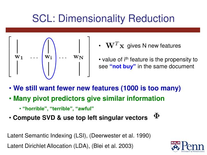 SCL: Dimensionality Reduction