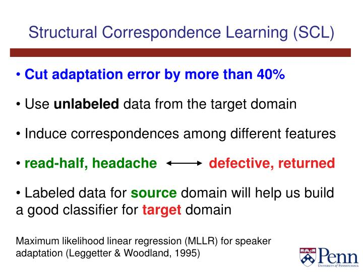 Structural Correspondence Learning (SCL)
