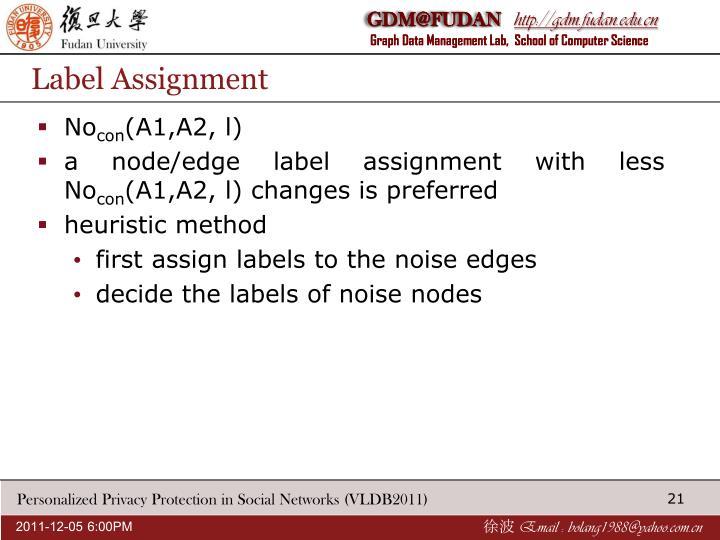 Label Assignment