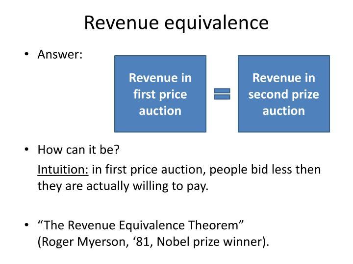 Revenue equivalence