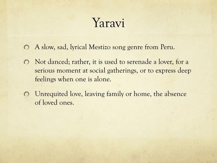 Yaravi