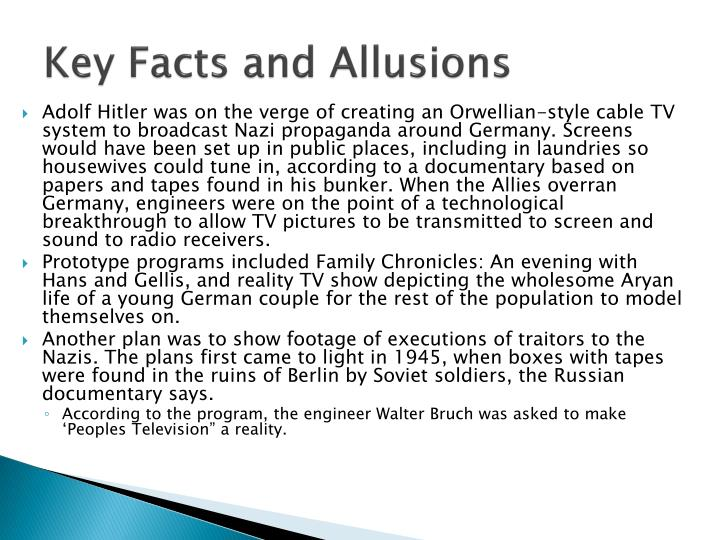 Key Facts and Allusions