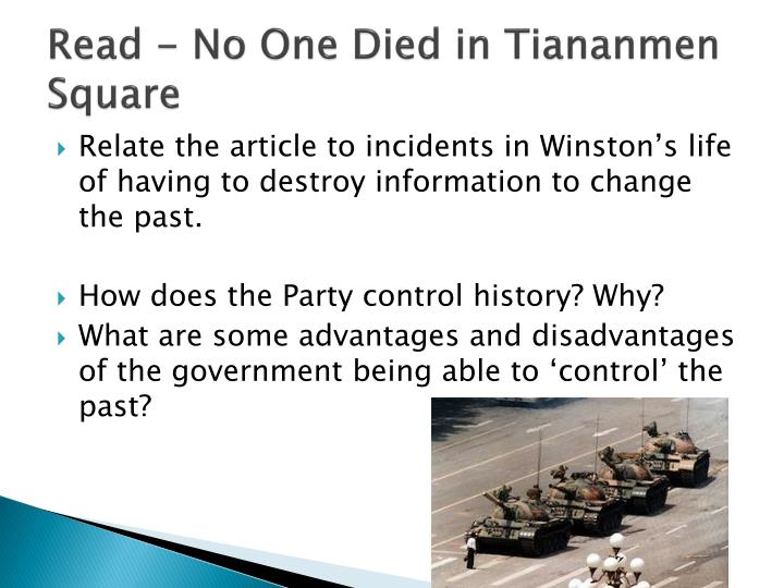 Read - No One Died in Tiananmen Square