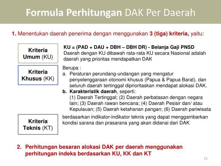 Formula Perhitungan