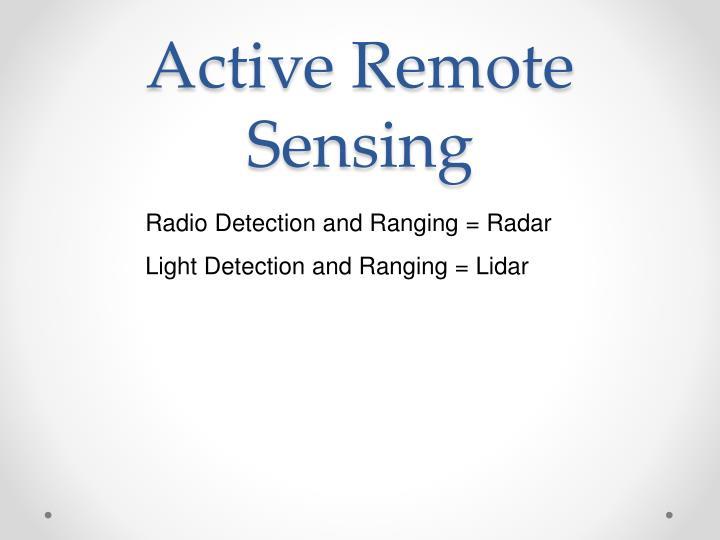 Active Remote Sensing