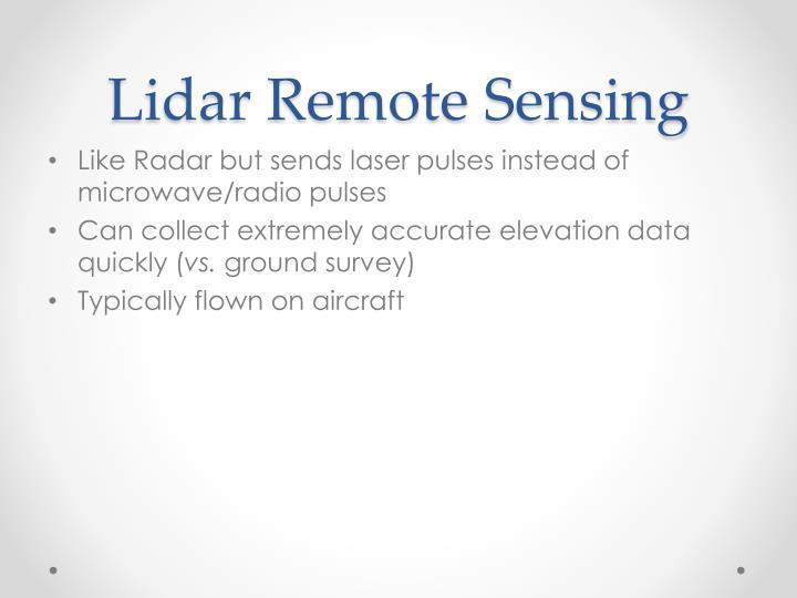 Lidar Remote Sensing