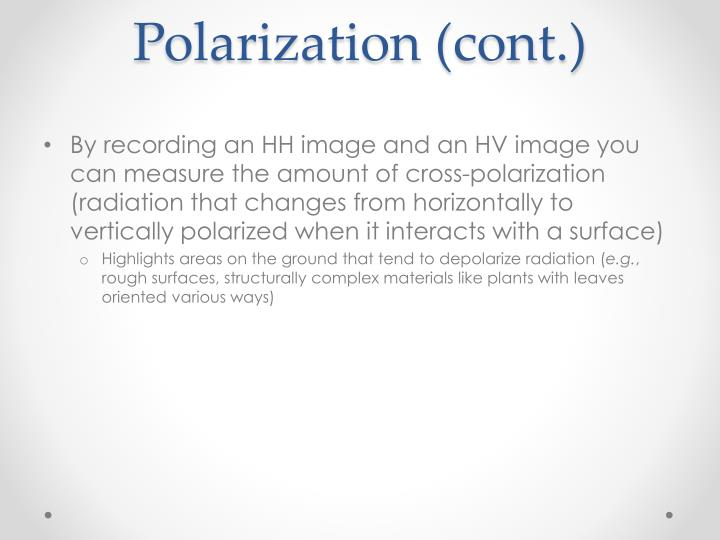 Polarization (cont.)