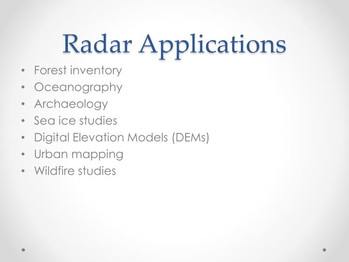Radar Applications