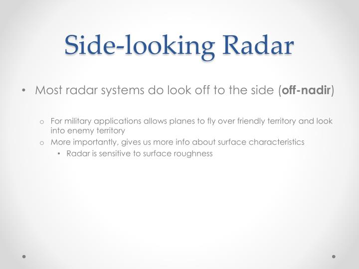 Side-looking Radar