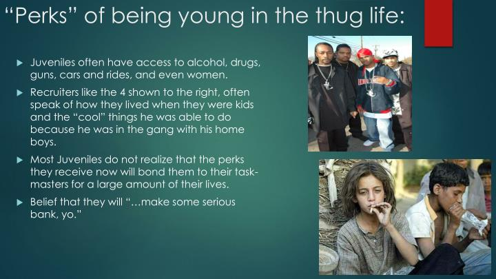 Perks of being young in the thug life