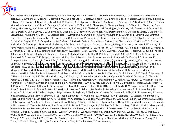Thank you from All of us
