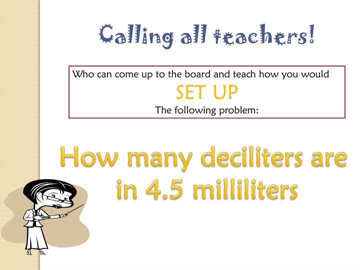Calling all teachers!
