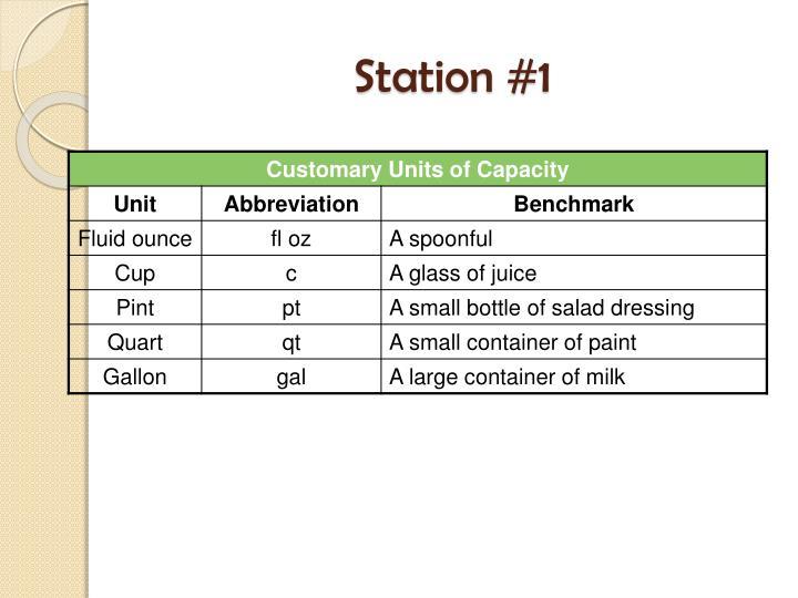 Station #1