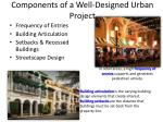components of a well designed urban project