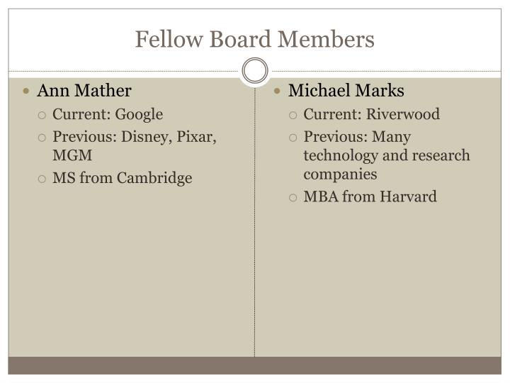 Fellow Board Members