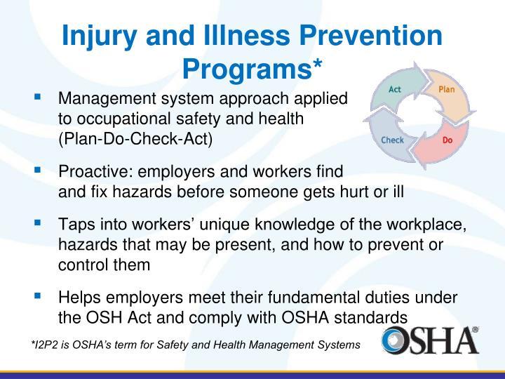 Injury and Illness Prevention Programs