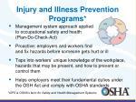 injury and illness prevention programs1