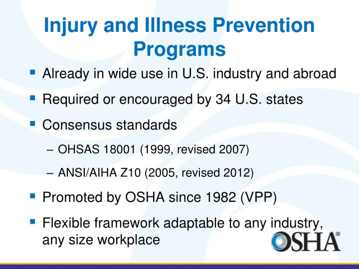 Injury and Illness Prevention