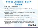 polling question safety culture