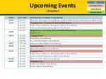 upcoming events tentative