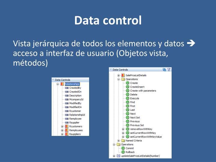 Data control