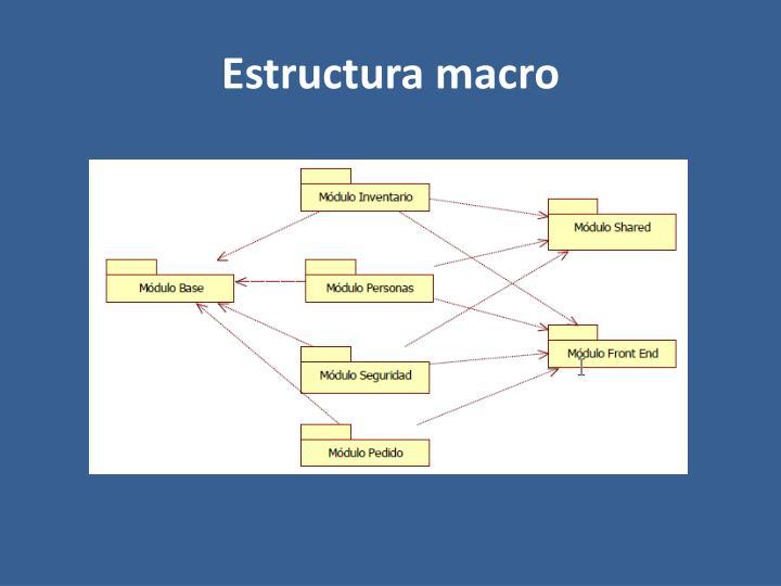 Estructura macro