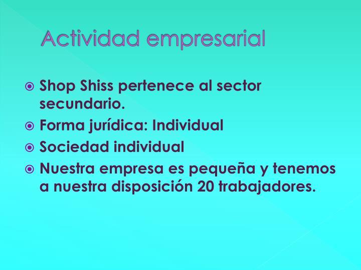 Actividad empresarial