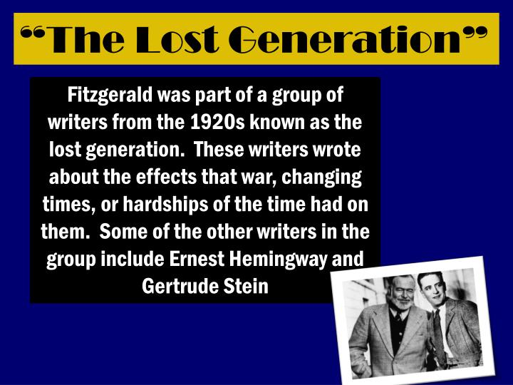 """""""The Lost Generation"""""""
