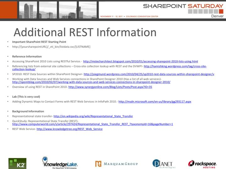 Additional REST Information