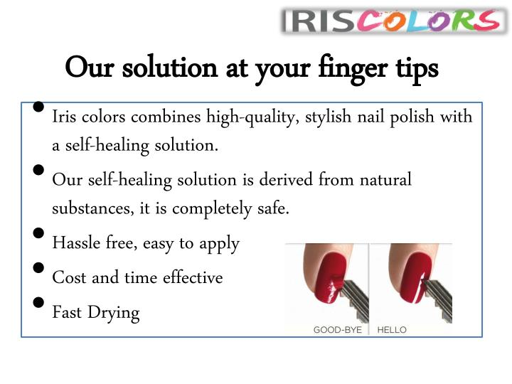 Our solution at your finger tips