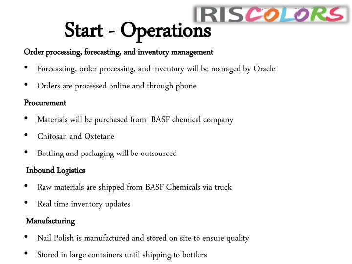 Start - Operations