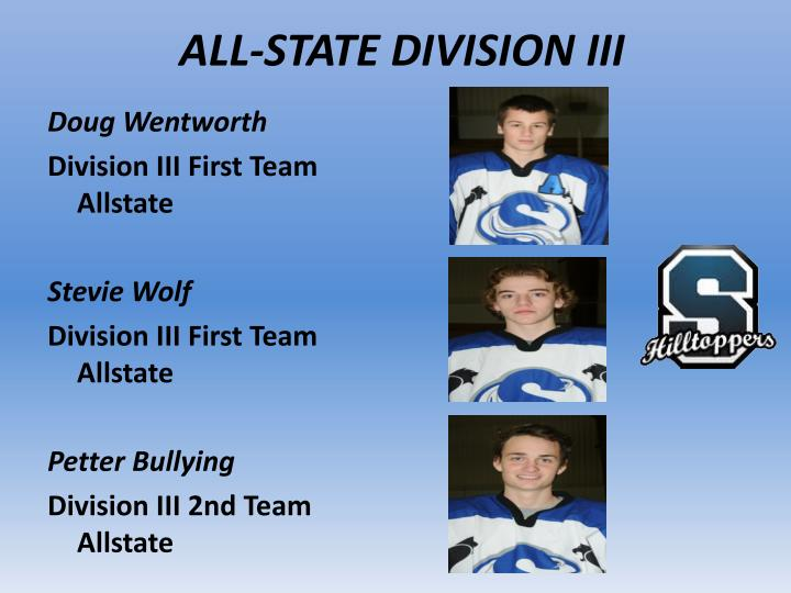 ALL-STATE DIVISION III